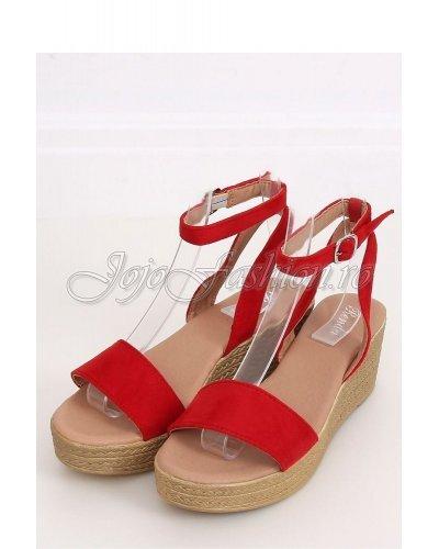 Sandale dama rosii cu platforma Emanuela