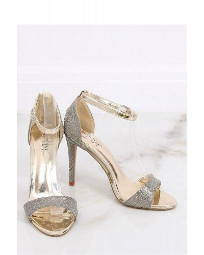 Sandale de dama argintii cu toc subtire Ilana